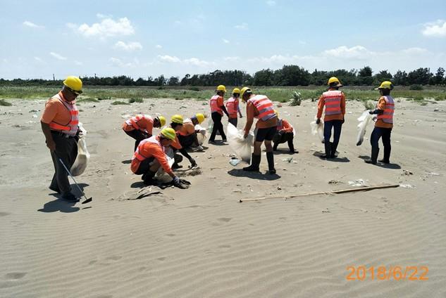 海岸垃圾清理地點-107年僱工清理潔維護