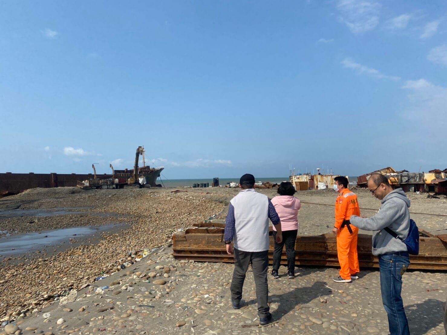 109年4月9日與海巡署第八岸巡共同稽查振豐輪拆除計畫。