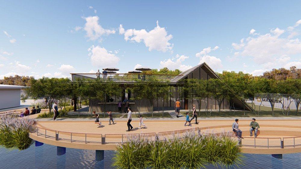 後湖溪生態園區設計模擬圖