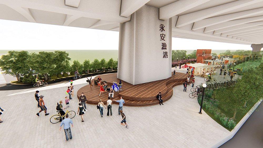 永安漁港遊客中心設計模擬圖