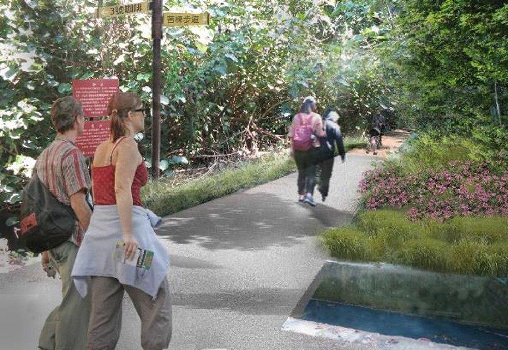 牽罟文化園區周邊林下步道設計模擬圖