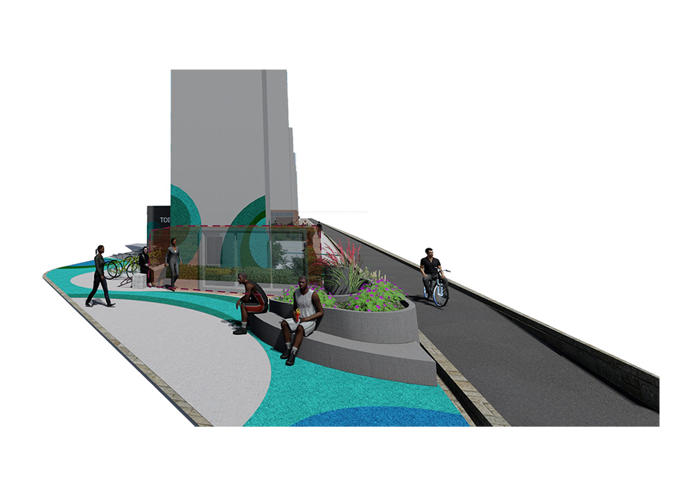 台61橋下串聯自行車道設計模擬圖