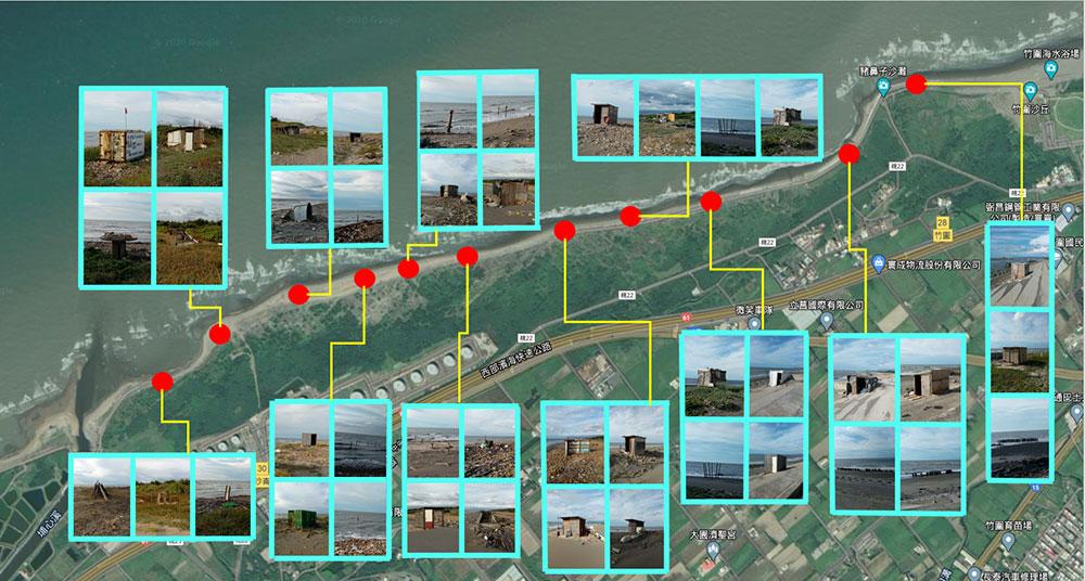 竹圍漁港南岸至埔心溪出海口