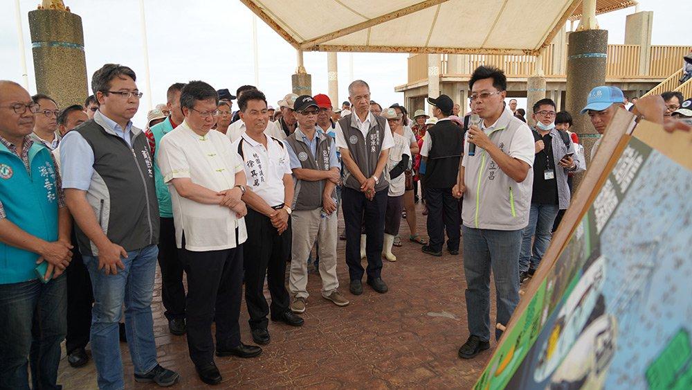 109年7月25日市長鄭文燦走訪許厝港生態復育工程